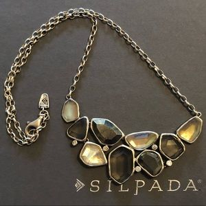 "Silpada Sterling CZ Pyrite ""Exemplar"" Necklace"